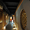 Lantern lit Corridor.<br /> To a traditional restaurant in Pontocho, Kyoto.