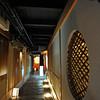 Lantern lit Corridor.<br /> To a traditional restaurant in Pontocho, Kyoto.