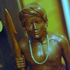 Statue of a man.<br /> In the second floor common area of Aburamu no sato (Abram's Place).