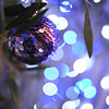 Lighter.<br /> The changing tones of Christmas Lights.