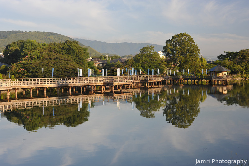Still Waters at Tenmangu Shrine Park.<br /> Note: Circular Polariser used