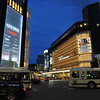 Shijo-Kawaramachi Intersection at Night.<br /> Kyoto, Japan.