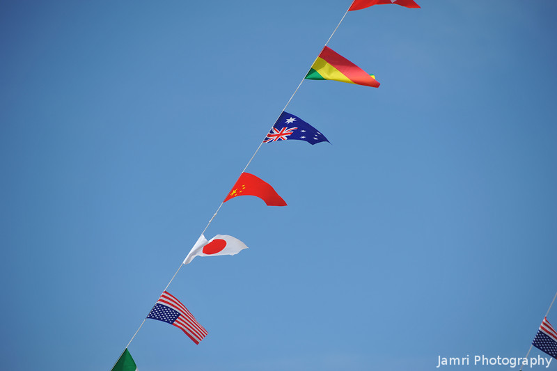 Some of the Flags.<br /> It seems the done thing in sports carnivals in Japan to decorate the place with the flags of the world.