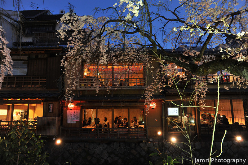 Evening Dining.<br /> Along the Shirakawa.