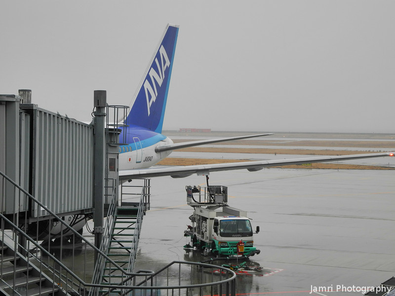My Ride at Kansai Airport.<br /> An All Nippon Airlines (ANA) 767-300.