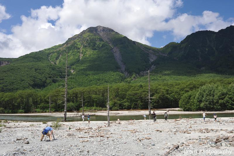 At Kamikochi.<br /> Looking towards Mt Yake-dake.
