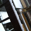 Accumulation on my back balcony railing.