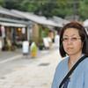 Ritsuko in Arashiyama.