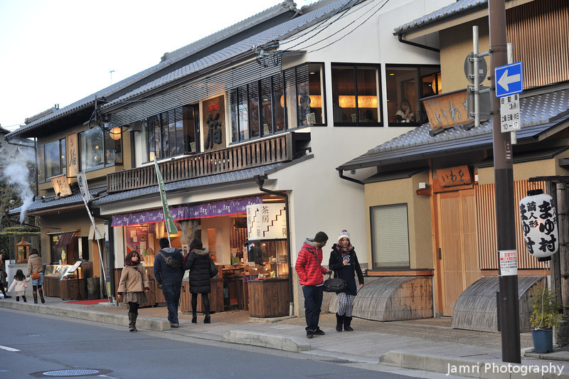 On a cool afternoon in Arashiyama.