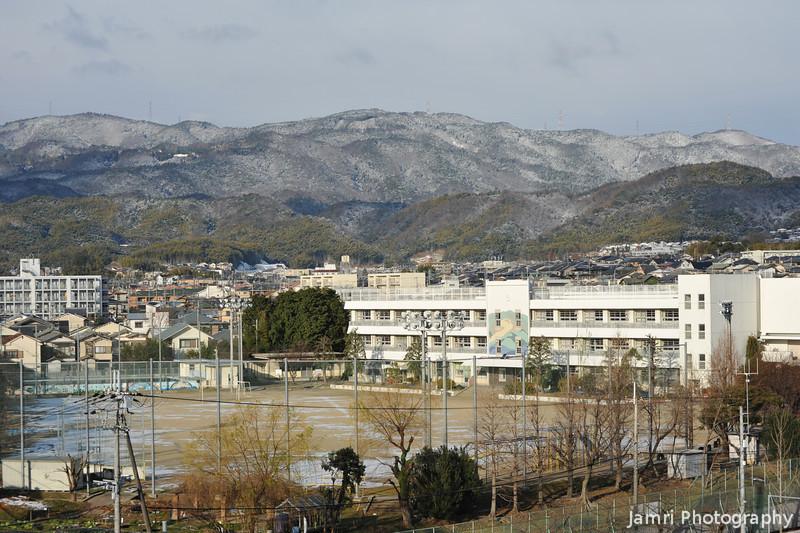Nagaokadaiyon Elementary School after the snow.