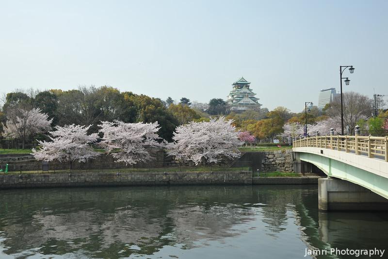 The Bridge and the Castle.<br /> Osaka Castle.