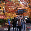 Near the Gate.<br /> Plenty of people taking in and photographing the Autumn Colours at Komyo-ji (a Buddhist Temple) in Nagaokakyo.