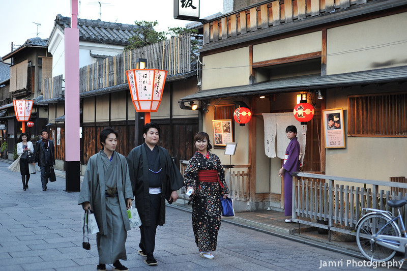 In Kimonos in Gion.