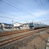 Local train heading towards Osaka.<br /> Testing a crop lens (Sigma EX DC 10-20f/4-5.6) on a Full Frame (Nikon D700). f/4.8 at 14mm.