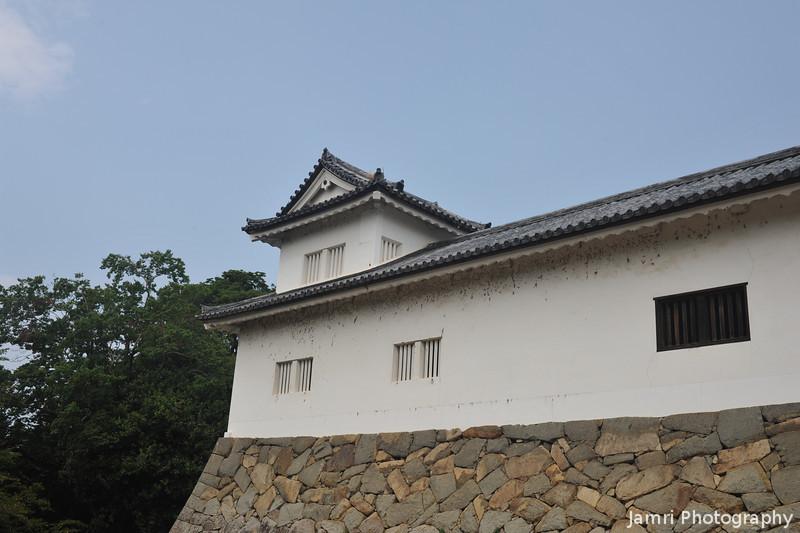 A Corner Turret.<br /> At Hikone-jo (Hikone Castle), Hikone, Shiga.