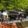 A view up the street.<br /> In Kibune, Kyoto.<br /> Note: Circular Polarising Filter Used.