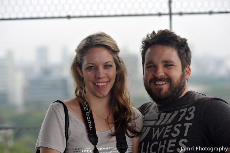Tess and Nathan at Osaka Caste.