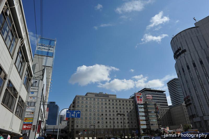 Towards the Hankyu Hotel.