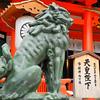 Guardian Lion.<br /> At Ikuta Shrine in Kobe.