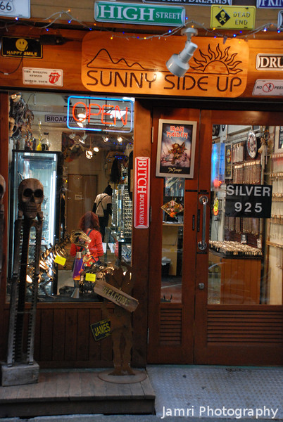 Sunny Side Up<br /> Seemed to be selling things relating to Metal Music, I'll have to investigate further sometime.