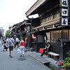 "Down the road of preserved houses.<br /> In Takayama's ""Little Kyoto""."