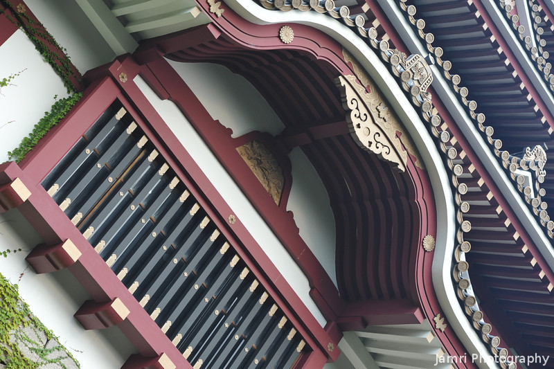 Up close to the Castle Window.<br /> Fushimi-Momoyama-jo (Fushimi-Momoyama Castle).