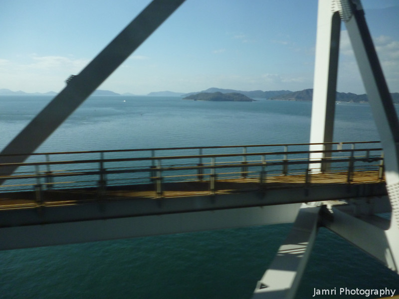 Crossing the Inland Sea.<br /> On our way back to Honshu from Shikoku.