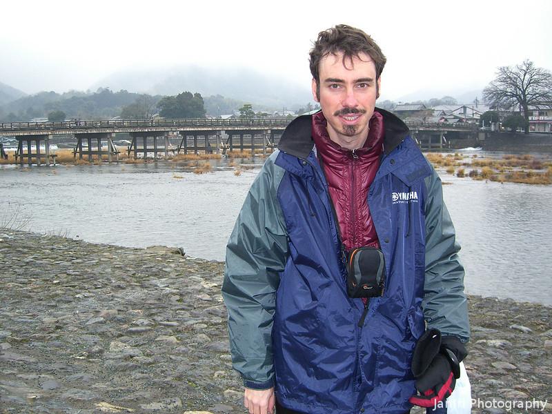 Me at the River in Arashiyama.<br /> Photo by David Blair.