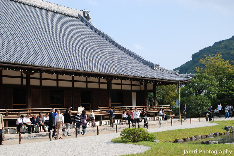At Tenryu-ji (a Buddhist Temple).<br /> Brought my parents to see Tenryu-ji in Arashiyama, that was the first temple they saw in Japan.
