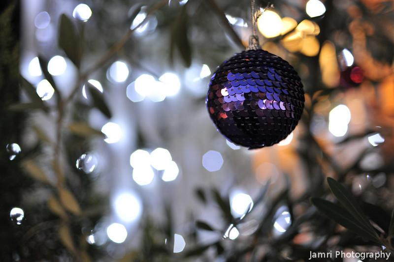 Christmas Decoration.<br /> Outside a hair salon near to Bambio.