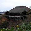Across the foliage.<br /> Another view of Kiyomizu-dera (Kiyomizu temple) in Higashiyama, Kyoto.