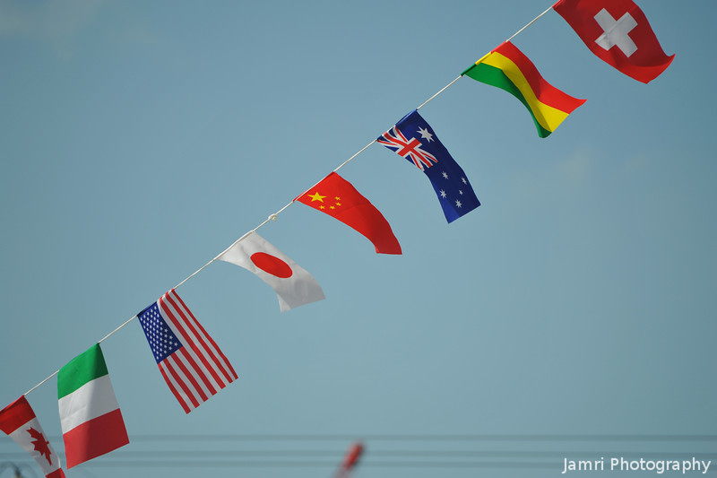 Flags again.<br /> Catching a different tone of sky.