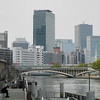 Along the banks of the Okawa.<br /> Near Temmabashi Station, Osaka.
