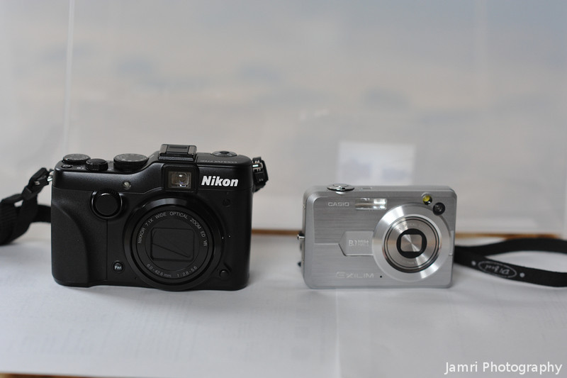 The Nikon P7100 and the Casio EX-Z850.<br /> While the Nikon is a little bigger, it has much better image quality, a 7x zoom compared to a 3x zoom and controls that are easy to operate with gloves on (important in Japan's cold climate).