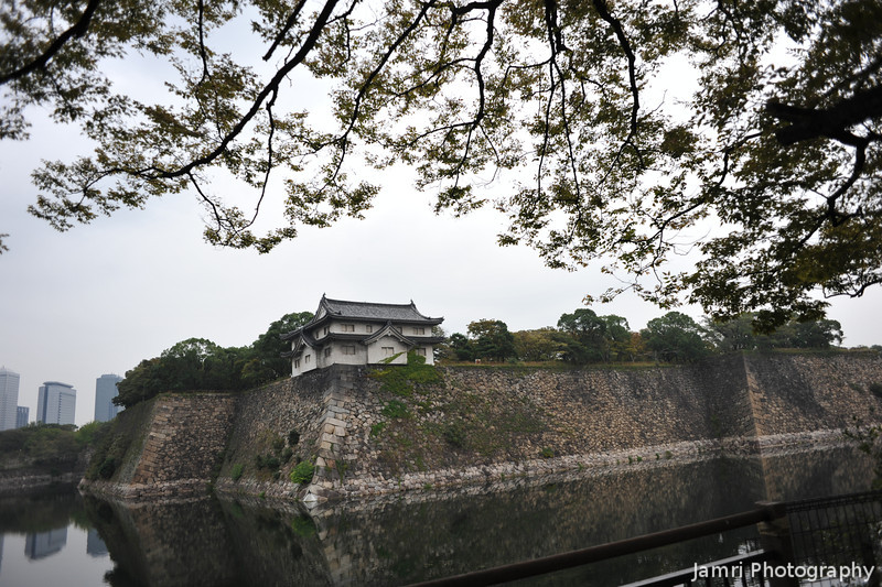 A Corner Guard Tower.<br /> At Osaka Castle Grounds.