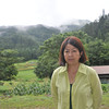 Ritsuko parting shot from Aburamu no sato.<br /> Just before we left the campsite.