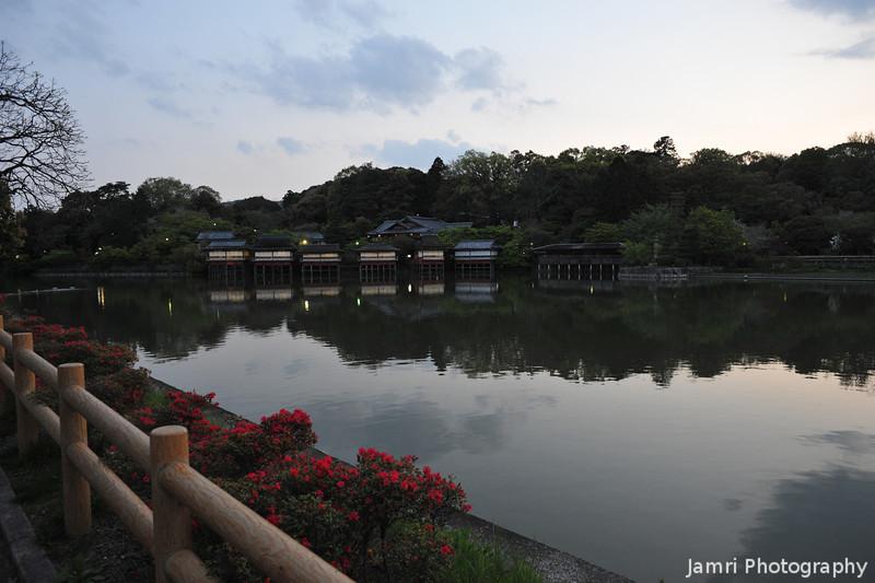 Still Waters at Nagaoka Tenmangu Shrine..