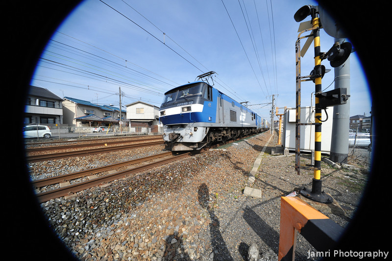 Freight Train Loco.<br /> Testing a crop lens (Sigma EX DC 10-20f/4-5.6) on a Full Frame (Nikon D700). f/11 at 10mm.