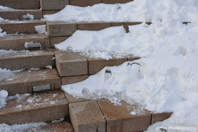 Snow on the Steps.