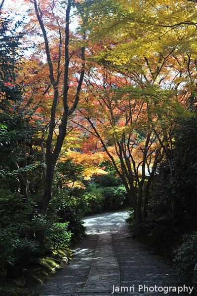 A Path in the Garden.<br /> At Okochi Sanso, Arashiyama, Kyoto.