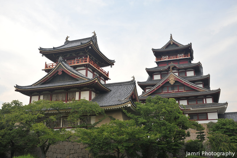 Two Towers.<br /> Of Fushimi-Momoyama-jo.<br /> In Fushimi-Momoyama, Fushimi-ku, Kyoto City, Japan.