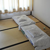 Our futons folded up for the daytime.<br /> At Aburamu no sato (Abram's place) near Hida Furukawa, Gifu Prefecture, Japan.