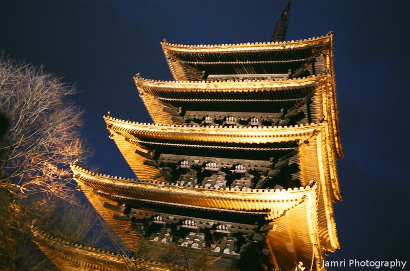 From Beneath the Pagoda.<br /> Note Film Shot: Nikon F80 + Nikkor 35 f/2 + Fujicolor PR400