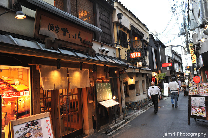 Down a side street.<br /> There's always fascinating places to explore down little side streets in Kyoto.