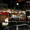 Night Taxi.<br /> Along Kawaramachi-dori, Kyoto.