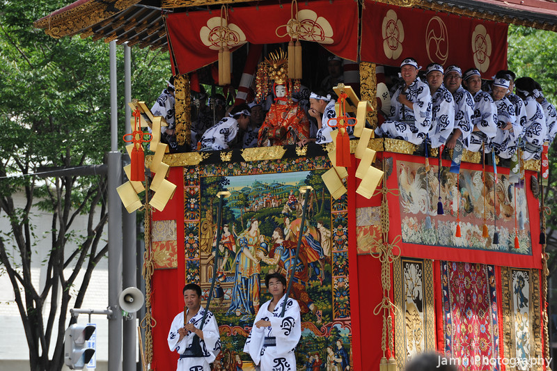 Another Shot of the Float with the Isaac and Rebecca tapestry.