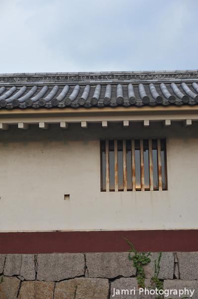 A rusting window.<br /> At Fushimi-Momoyama-jo.