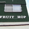 "Fruit Hop.<br /> Methinks the ""S"" fell of sometime..."