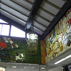 Wall Mosaics.<br /> At Osaka-jo Koen station.
