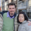 Me and Ritsuko in Dotonburi.<br /> Photo by David Blair.